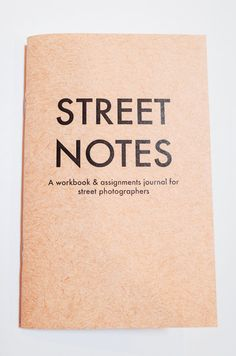 Street Notes is your personalized guide and journal for you to develop your photography skills and to re-inspire your creative process.#ad #commissionlink #photography #streetphotography
