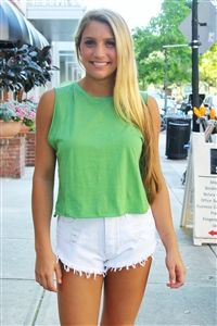 Mink Pink: For Now Crop Tee in Khaki #minkpink #green #crop #tee #awesome