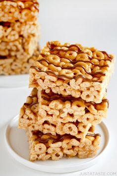 Peanut Butter Cheerios Marshmallow Treats Photo