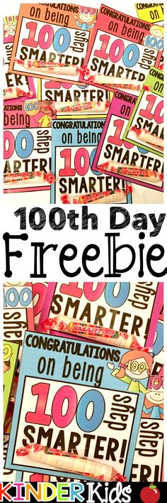 Just print on cardstock, cut out and tape on a Smartie roll to have a cute and easy day of school gift for your students! Free Teaching Resources, Teaching Ideas, Teaching Tools, 100 Days Of School, School Stuff, High School, 100s Day, Hundred Days, Classroom Treats