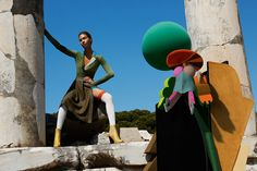 Artist and photographer Viviane Sassen returns to collaborate with Missoni on its Fall/Winter 2014 campaign fronted by Joan Smalls and Justin Barnhill.