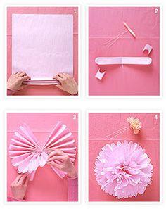 Como fazer Pompom de papel de seda – Passo a Passo