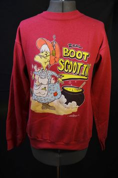 bbcc7acd3ce Items similar to 90s Boot Scootin Funny Quirky Sweatshirt