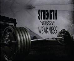Fitness Motivation Home Gym Wall Decal - Strength Grows From Weakness Wall Decal