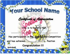 Spelling bee award certificates sb10421 sparklebox for Spelling bee invitation template