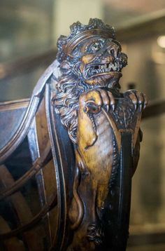 Ship Figurehead, Sculptures, Lion Sculpture, Wooden Ship, Shipwreck, Green Man, Model Ships, Sailing Ships, Mermaid