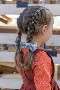 Girls Peter Pan Collar Blouse , Button up Toddler Shirt Old Hairstyles, Little Girl Hairstyles, Braided Hairstyles, Haircuts, Toddler Bows, Toddler Hair, Style Grunge, Soft Grunge, Hair Due