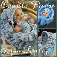 Crochet cradle purse for girls