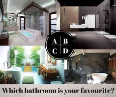What's your favourite? A) Modern B) Minimalist C) Nature inside D) Rustic We love the minimalist but some pot plants wouldn't hurt. Pot Plants, Glass Bathroom, Rustic Modern, Your Favorite, Minimalist, Interior Design, Architecture, Outdoor Decor, Nature
