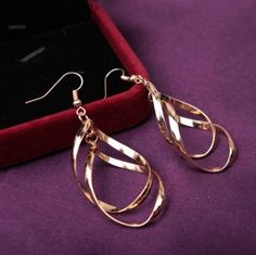 Highly-Popular-in-2017-Big-Dangle-Earrings-For-Women-Long-Drop-Gold-Color