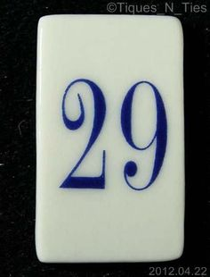 """Lenox Number """"29"""" Lighthouse Perpetual Calendar Replacement Date Tile (cat) (EE)"""
