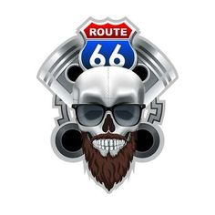 Illustration of Route 66 Club Logo. High Resolution vector file vector art, clipart and stock vectors. Vector File, Vector Art, Banner Printing, Music Files, Route 66, Image Photography, Company Logo, Club, Stock Photos