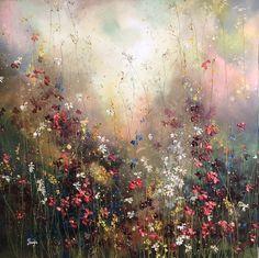 Yulia Muravyeva - Fairytale VI Oil Painting Abstract, Painting Art, Abstract Art, Acrylic Painting Inspiration, Encaustic Art, Floral Wall Art, Colorful Paintings, Abstract Flowers, Texture Art