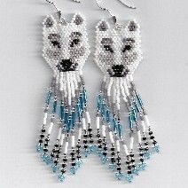 White Wolf Earrings by Edithscustomcrafts on Etsy, $19.99