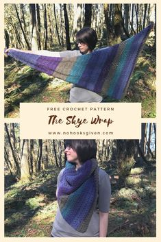 A fun, simple, asymmetrical shawl wrap perfect for the Spring season. This patte… Crochet Shawl Free, Crochet Wrap Pattern, Crochet Shawls And Wraps, Crochet Patterns, Crochet Vests, Ravelry Crochet, Knit Shawls, Crochet Shirt, Crochet Scarves
