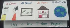 Respect Foldable- 4 Flaps Show respect to others at school at home to my earth! Respect Activities, Teaching Kids Respect, Counseling Activities, Teaching Ideas, Elementary School Counseling, School Social Work, School Counselor, Elementary Schools, Teaching Character