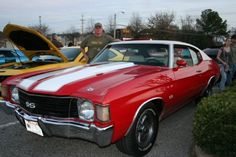 72 Chevelle SS ! This is what r car looks like minus the white top.