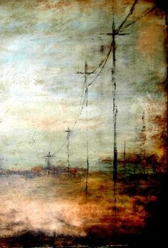 To go to all the trouble of painting haunting beautiful background, etc. and then piece's major emphasis is the clear painting of telephone lines