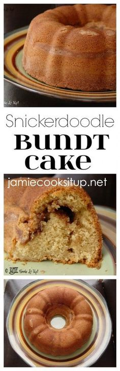 Snickerdoodle Bundt Cake from Jamie Cooks It Up! If you are a cinnamon-sugar fan, this heavenly bundt cake is for you.