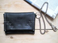 "purse, wallet, pocket with chain unique upcycled Leather ""Arno"" for guys"