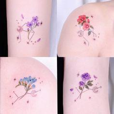 Friendship Tattoos, Zodiac Constellations, Watercolor Tattoo, Tatting, Ink, Bffs, Tattoo Ideas, Tattoo Watercolor, Zodiac Signs