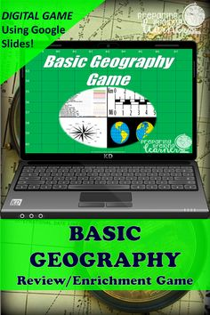 Your middle school social studies students will learn or review basic geography content with this fun digital game that uses Google Slides.  Perfect for in class or at home enrichment or review! Basic Geography, Geography Games, Social Studies Games, Digital Review, Map Skills, Enrichment Activities, Middle School Teachers, Review Games, Google Classroom