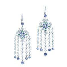 Tiffany & Co. platinum tanzanite earrings