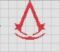 Assassins Creed cross stitch :) http://geekiecrafts.blogspot.com/