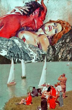 Love Despite Great Faults. Mixed Media Collage Art By Ayham Jabr.