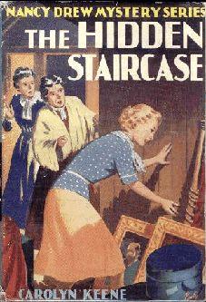 Nancy Drew: The Hidden Staircase. Cover art by Harold Hill Nancy Drew Mystery Stories, Nancy Drew Mysteries, Cozy Mysteries, Good Books, Books To Read, My Books, Nancy Drew Books, Vintage Children's Books, Vintage Items