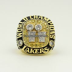 2001 Los Angeles Lakers NBA World Championship Ring. Best gift from www.championshipringclub.com for  Lakers fans. Custom your own personalized championship ring now.