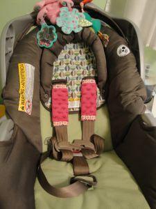 car seat strap cover tutorial