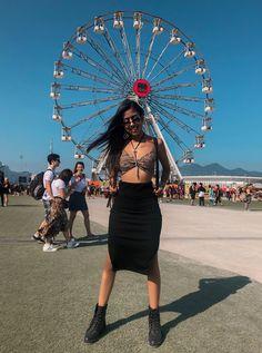 Rock in rio 2019 Look Festival, Rock In Rio, Look Rock, Rave, Style, Fashion, Raves, Swag, Moda