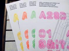 Typographie - New North Press, & Chalk Studios - A Letterpress Font Creative Review, Creative Fonts, Cool Fonts, Creative Suite, Design Alphabet, P Alphabet, Print Design, Graphic Design, London Design Festival