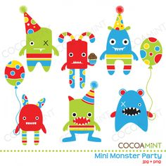 Monster Party Graphics
