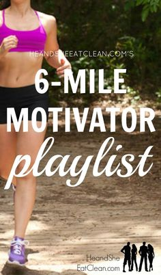 The Motivator Running Playlist - Need a playlist to help get you through a six mile or longer run? Look no further than this - Fit Board Workouts, Running Workouts, Running Tips, Fun Workouts, Running Playlists, Playlist Running, Exercise Playlist, Pace Running, Beginner Running