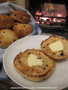 ~Yorkshire Teacakes~  A teacake is a light, sweet, yeast-based bun containing dried fruits, most usually currants, sultanas or peel. It is typically split, toasted, buttered, and served with tea. It is flat and circular, with a smooth brown upper surface and a somewhat lighter underside.