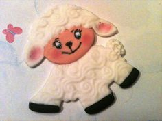 4 Fondant baby Lamb to place on your cake by anafeke on Etsy, $12.00