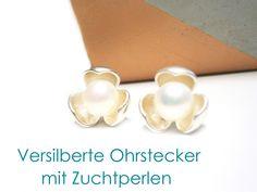 Ohrstecker+Zuchtperlen+versilbert+von+DeineSchmuckFreundin+-+Schmuck+und+Accessoires+auf+DaWanda.com