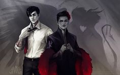 Alec Lightwood x Magnus Bane by Andy-Wendigo. TMI. The Mortal Instruments. Cassandra Clare