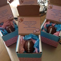 Gender Reveal for the long distance friends :) confetti eggs