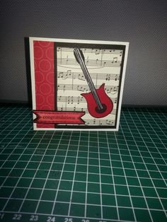 Stampin Up! Owl punch makes this amazing guitar card for a rock fan birthday. http://www.guitarandmusicinstitute.com