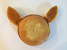 My Pokemon Pikachu cake diy - I baked two round cakes to make the face and ears.