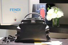 2016 Fall Winter Fendi Peekaboo Mini Wave Leather Satchel Bag for Women, bag, сумки модные брендовые, bags lovers, http://bags-lovers.livejournal