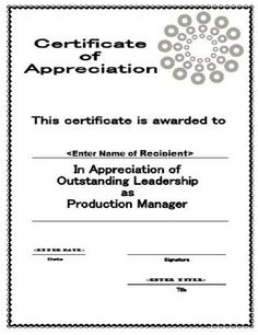 Certificate of Farewell! FREE Certificate Templates for #
