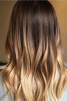 If you're new to coloring your hair or you don't want a drastic change, an ombré look might be just what you need. Traditionally, ombré hair colors transition from a darker color at the roots to a lig Grey Balayage, Balayage Brunette, Hair Color Balayage, Blonde Color, Balayage Hair Honey, Ombre Color, Balayage Highlights, Hair Color 2017, Cool Hair Color
