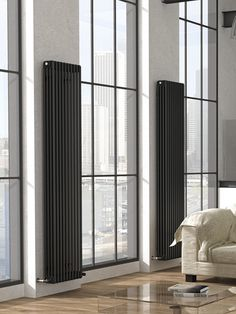 Essy designer radiator: a traditional cast iron style column radiator. This excellent high out put radiator is available in a wide size selection, in vertical and horizontal formats and in 208 colours without extra charge. Black Radiators, Column Radiators, Decorative Radiators, Vertical Radiators, Designer Radiator, Room Color Schemes, Home Living Room, Bauhaus, Shopping