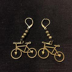 Handmade Bike earrings Bicycles, Bike, Personalized Items, Earrings, Handmade, Bicycle, Ear Rings, Stud Earrings, Hand Made