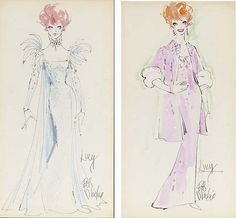 Bob Mackie Costume Sketches for Lucy, via Flickr.