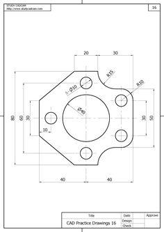 Isometric Drawing Exercises, Autocad Isometric Drawing, Mechanical Engineering Design, Mechanical Design, Engineering Notes, Geometric Construction, Interesting Drawings, Geometric Drawing, Geometry Art